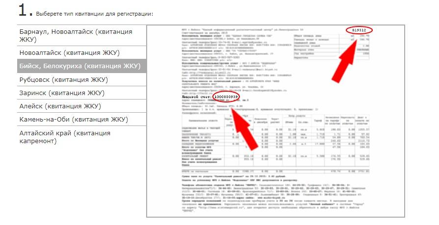 Запрашиваемые обозначения в платежной квитанции